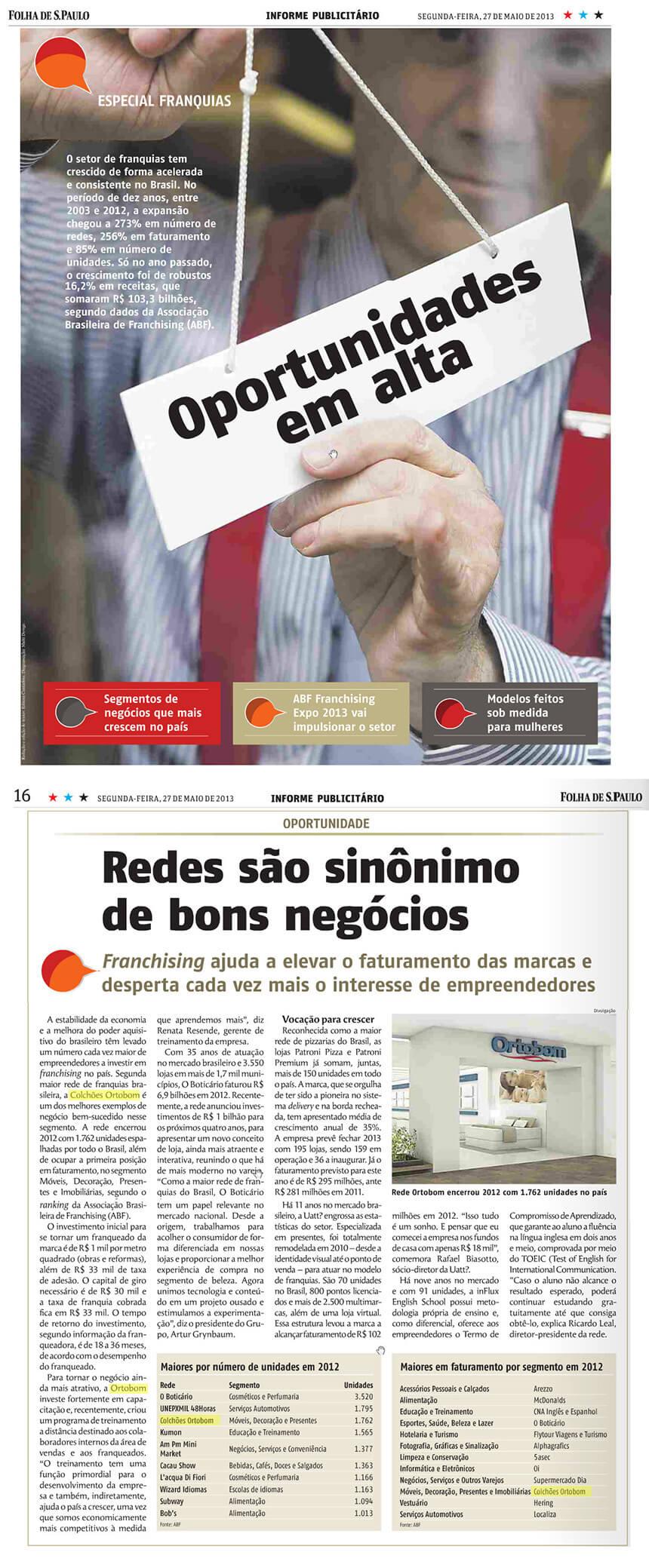 Ortobom na Folha de SP